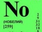 В 1957 году был открыт 102-й элемент таблицы Менделеева — нобелий