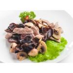 Говядина с тремя видами грибов