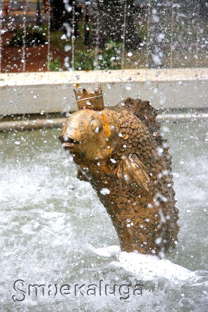 Скульптура «Золотая рыбка и старик»