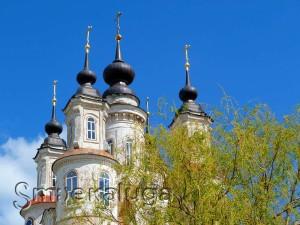Купола церкви Косьмы и Дамиана в калуге