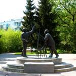 """Скульптура """"Встреча"""" (Циолковский и Королев)"""