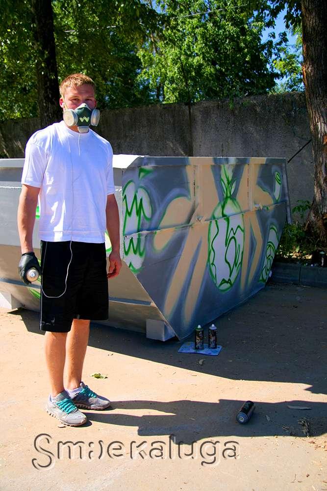 В Калужской области появятся мусорные контейнеры, разрисованные граффити