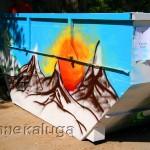 мусорный контейнер с граффити калуга