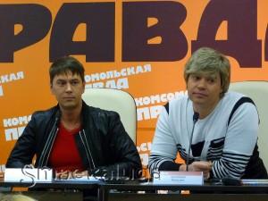 Владимир Политов и Вячеслав Жеребкин в калуге