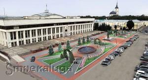 Проект обновленной площади Старый Торг калуга