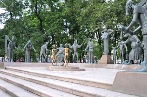 Михаил Шемякин. Скульптура «Дети – жертвы пороков взрослых» москва