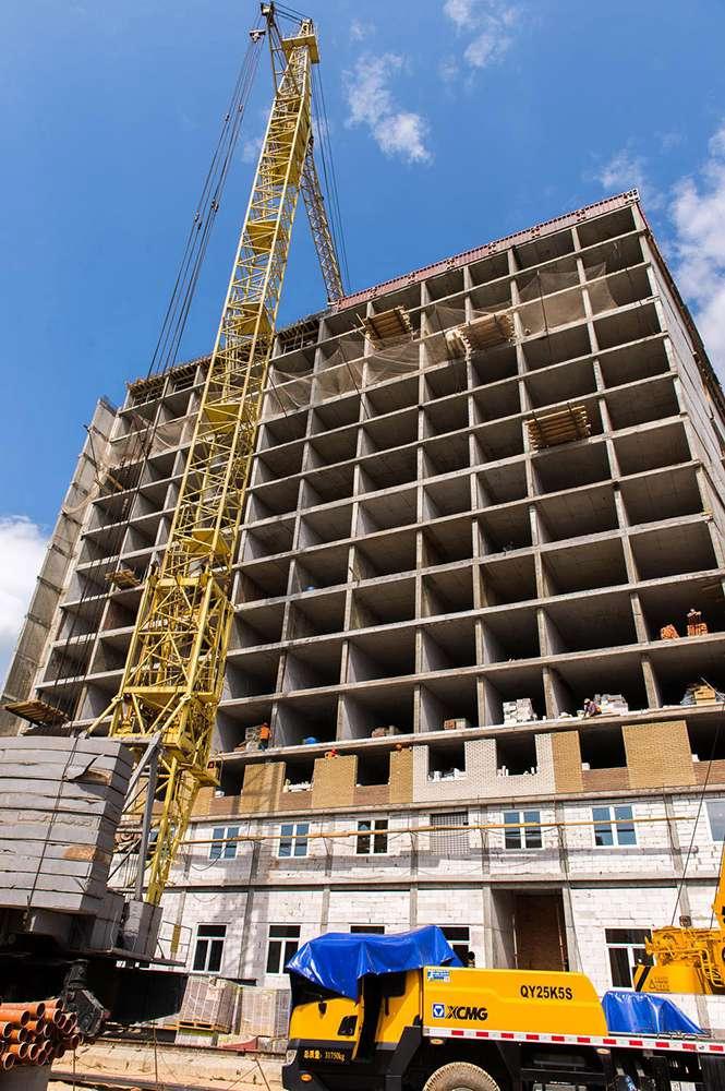 Строительство новых зданий КГУ им. К. Э. Циолковского идет по графику