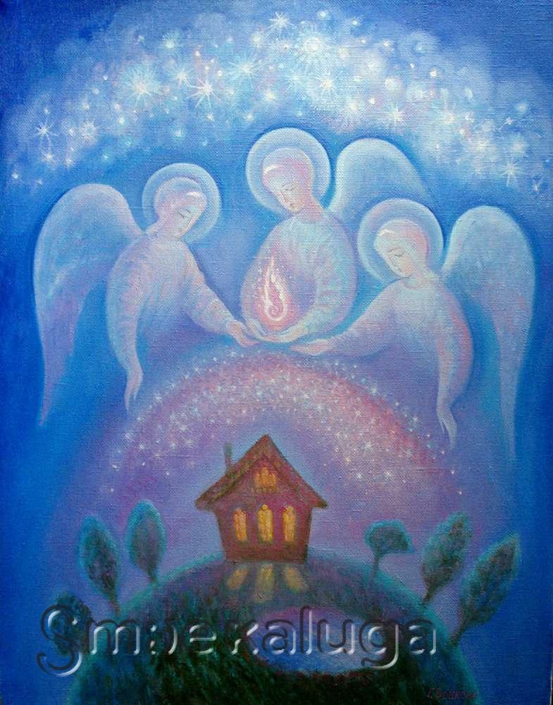 Открылась выставка картин Елены Войновой-Богородицкой «Время ангелов»