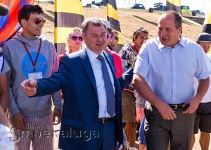 Губернатор Анатолий Артамонов на торжественном открытии Чемпионата калуга