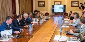 Рабочее совещание по строительству Дворца спорта калуга
