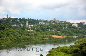 Калуга. Вид с Правого берега калуга