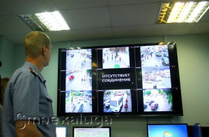 Видеоэкран в дежурной части калуга