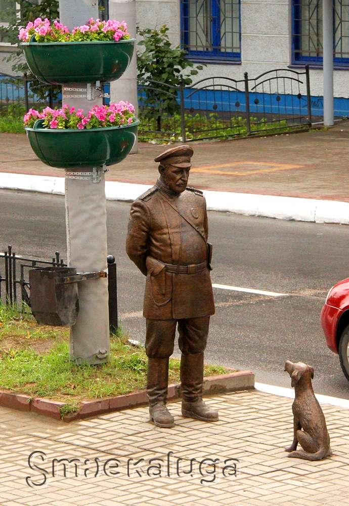 Скульптура Городовой с собачкой