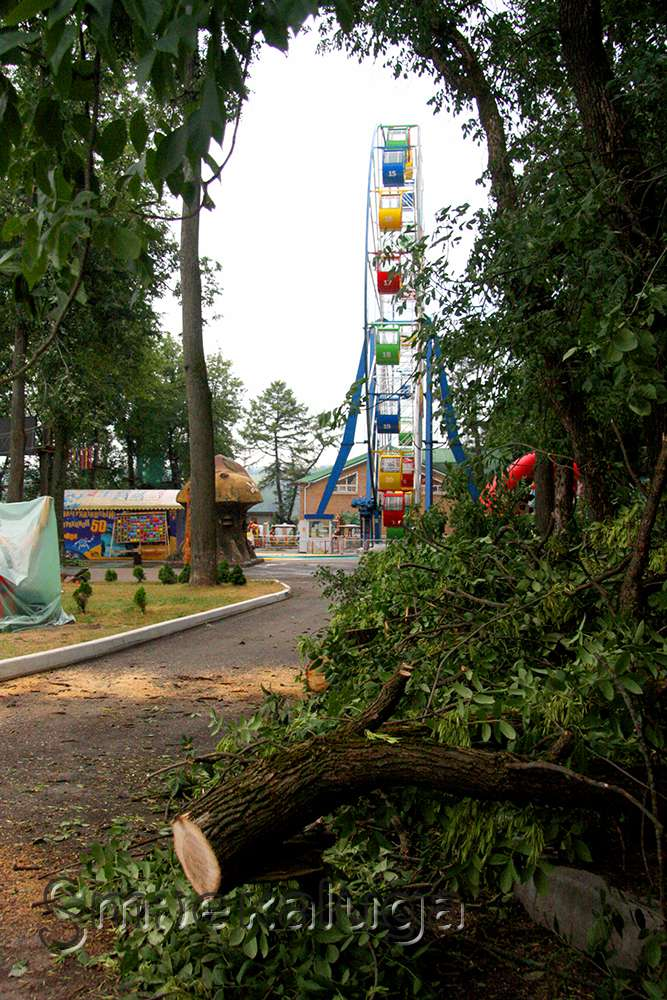 В Городском парке культуры и отдыха ликвидируют последствия вчерашней стихии