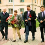 Возложение цветов к бюсту Туликова