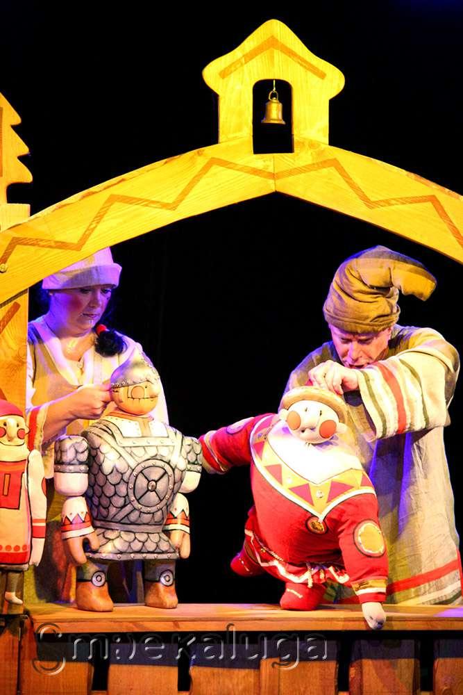 Спектакль «Илья Муромец и Соловей-разбойник» в Калужском театре кукол