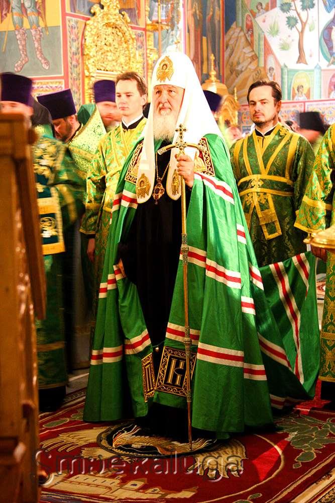 Патриарх Кирилл освятил памятник Кукше