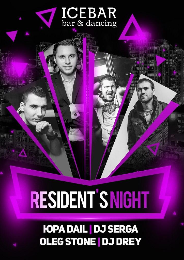 RESIDENT's NIGHT в ICE BAR