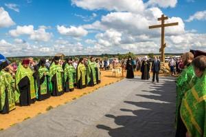 На церемонии открытия Поклонного креста мещовск