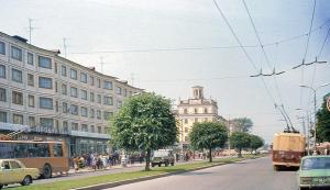Улица Кирова в 80-х годах калуга