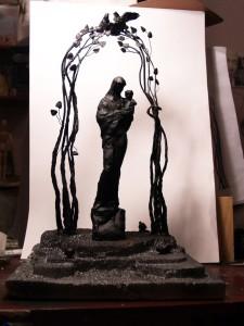 Эскиз Памятника матери калуга