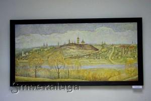 Валерий Манаенков. «Вид Калуги с правого берега реки Оки», 1997 год калуга