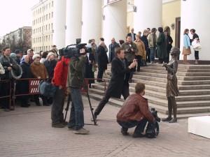 Открытие Памятника театральному зрителю (2008 год) калуга