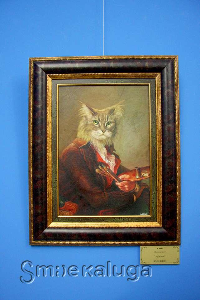 Никас Сафронов открыл свою персональную выставку в Калужском музее изобразительных искусств