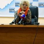 На пресс-конференции калуга
