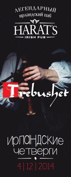 Концерт ирландской музыки: фолк-группа Требушет в Harat's Pub