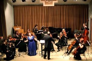 Сольный концерт Елены Шумаевой с Муниципальным камерным оркестром в доме музыки