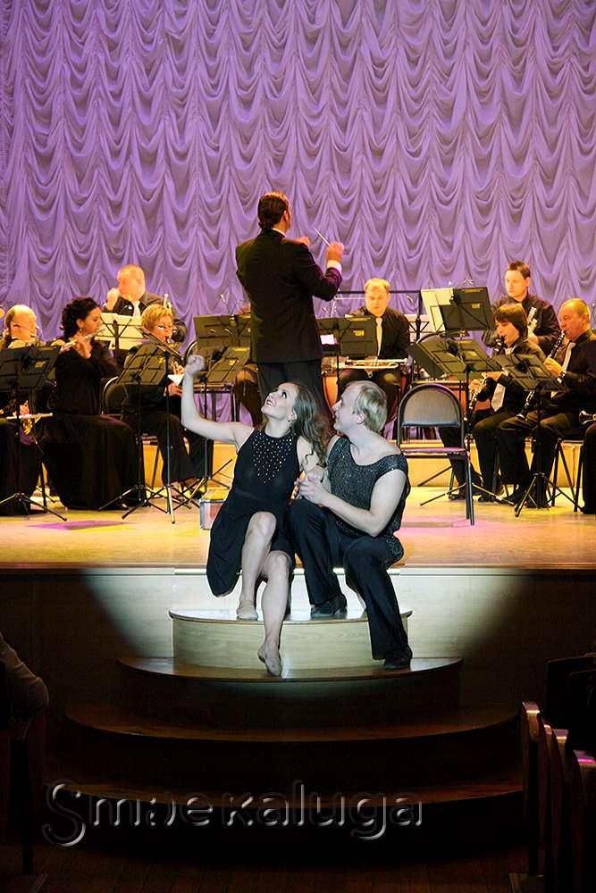 Губернский духовой оркестр сыграл программу, посвященную 70-летию Калужской областной филармонии