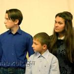 Юные актёры: (слева направо) Павел Зайцев, Никита Абрамов, Валентина Глушенкова калуга
