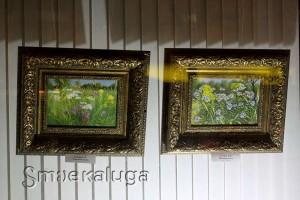 Живопись Алексея Голубева в витрине Дома художника калуга