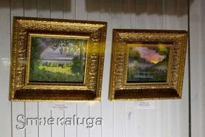 Живопись Алексея Голубева в витрине Дома художника в калуге