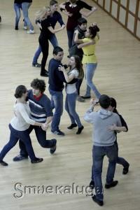 На первой генеральной репетиции бала студенты