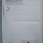 """Лист отзывов (в самом начале выставки - к концу он был заполнен красными """"смайликами""""). калуга"""