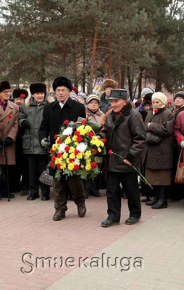 В день рождения Г. К. Жукова калужане возложили цветы к его памятнику