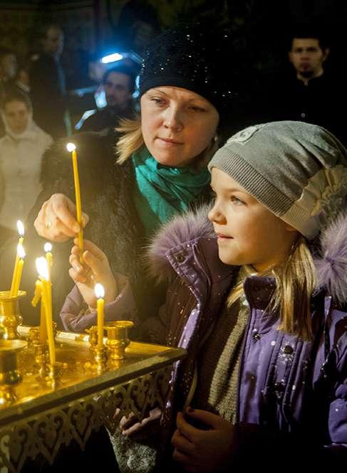 Калужане встретили Рождество Христово