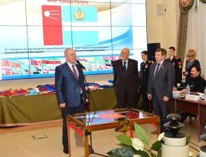 На церемонии передачи флагов москва