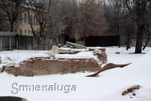 Исторический фундамент Крестовской церкви калуга