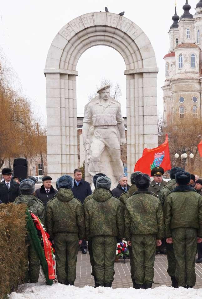 В Калуге прошёл митинг, приуроченный к 26-ой годовщине вывода Советских войск из Афганистана