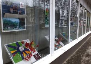 Выставка в витрине Дома художника (фотография предоставлена Михаилом Мантулиным) калуга