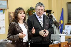 Галина Бунькова (директор ГДЦ) и Павел Сузик калуга
