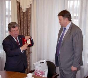 Награждение Константина Баранова калуга