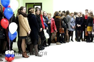 На церемонию открытия собрались студенты КГУ им. К. Э. Циолковского калуга