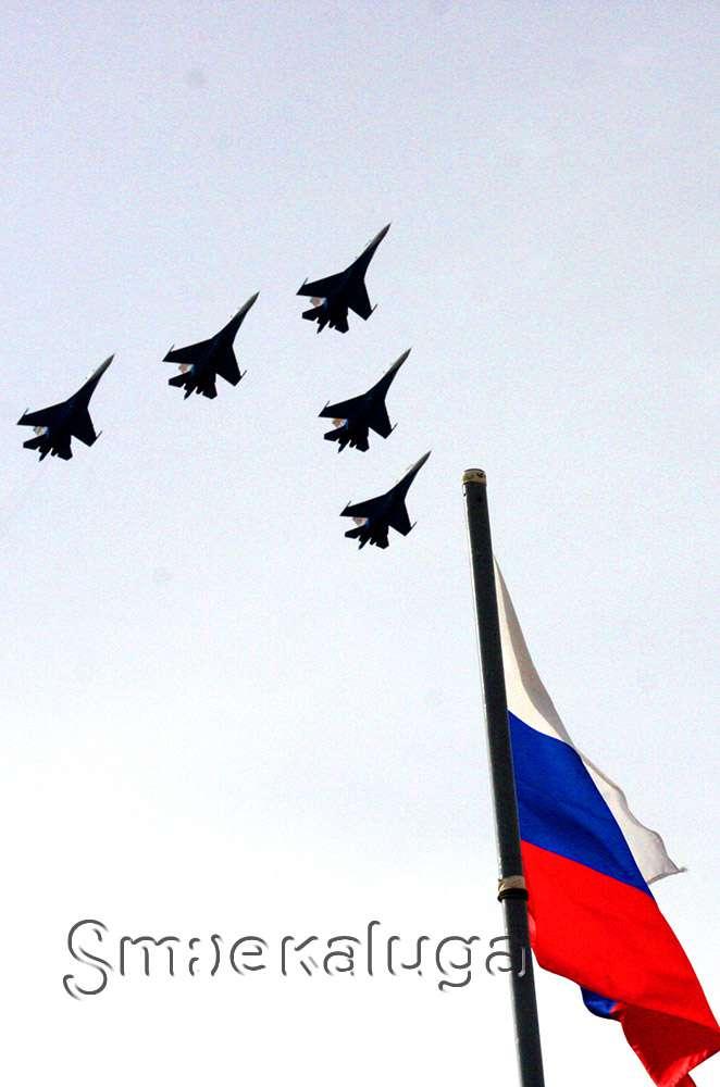 В Пучково прошли показательные выступления ВДВ России и пилотажной группы «Русские Витязи»
