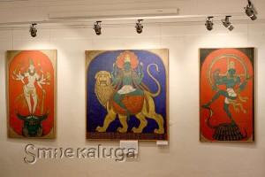 В. А. Ватагин. Триптих «Боги Индии» в калуге