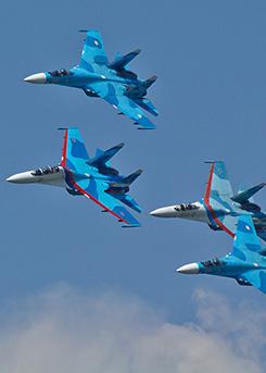 27 апреля в 10 часов 23 минуты над Калугой пройдёт памятный полёт самолётов Липецкого тактического крыла