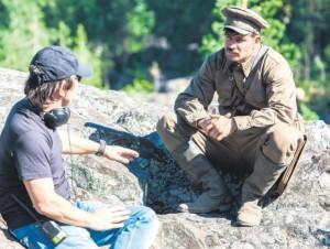 """На съемках фильма """"А зори здесь тихие..."""". Источник фотографии www.kino-teatr.ru калуга"""